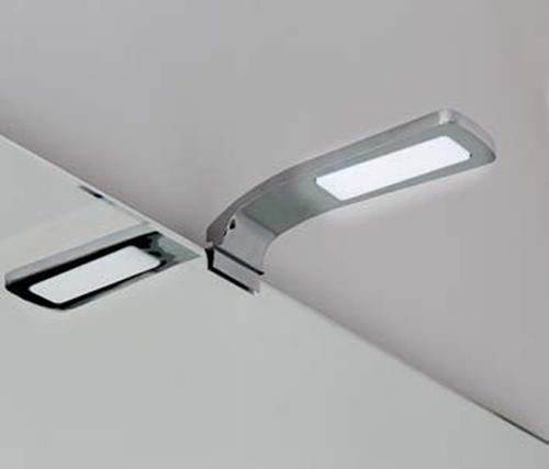 Applique da bagno lampada a led cromata per montaggio a bordo specchio eco ebay - Lampada led per specchio bagno ...