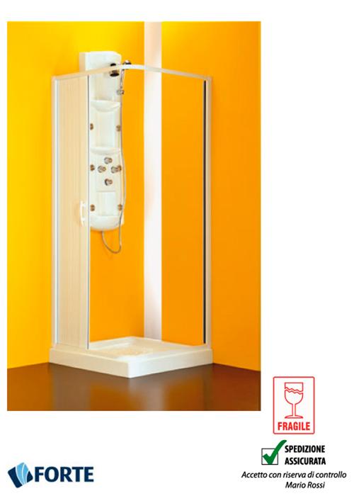 BOX DOCCIA ANGOLARE LATER PVC RIDUCIBILE 80 60 X 80 60 X 185 CM SOFFIETTO FORTE  eBay