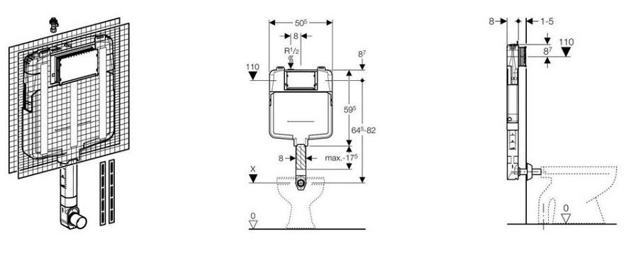 Cassetta scarico wc offerte e risparmia su ondausu - Cassetta bagno geberit ...