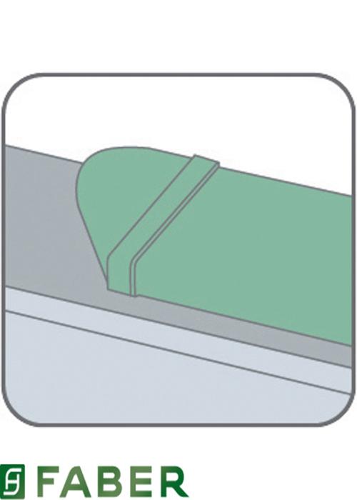 Curva 90 crcv reversibile per tubo rettangolare per cappa for Cappa filtrante senza tubo