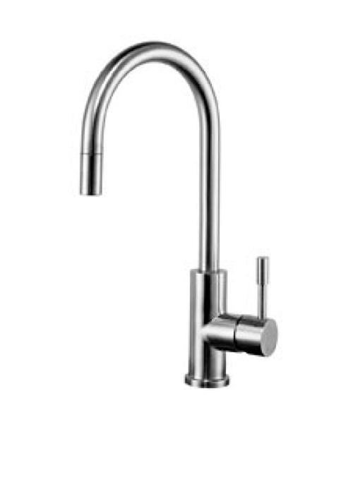 Miscelatore rubinetto lavello cucina acciaio inox bocca - Lavello cucina professionale ...