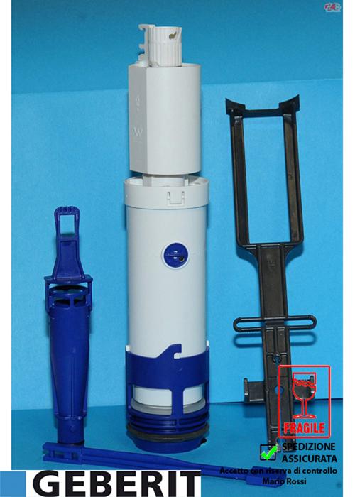 Campana completa twico per cassetta scarico incasso unica for Geberit campana completa per cassetta