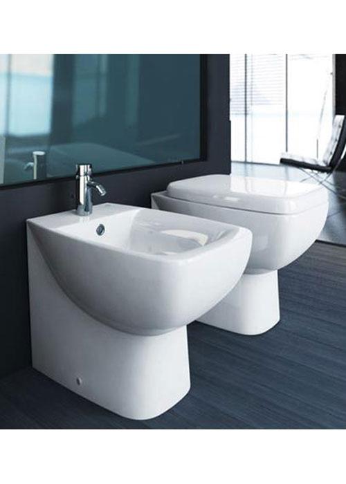Sanitari a terra filo muro cantica ideal standard vaso wc for Sanitari ideal standard