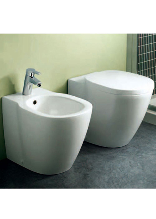 Sanitari a terra filo muro connect ideal standard vaso wc bidet sedile assicuraz ebay for Comideal standard connect baignoire