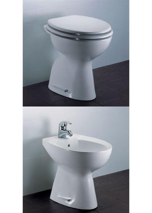 Sanitari a terra ideal standard vaso wc pavimento bidet for Sanitari dolomite