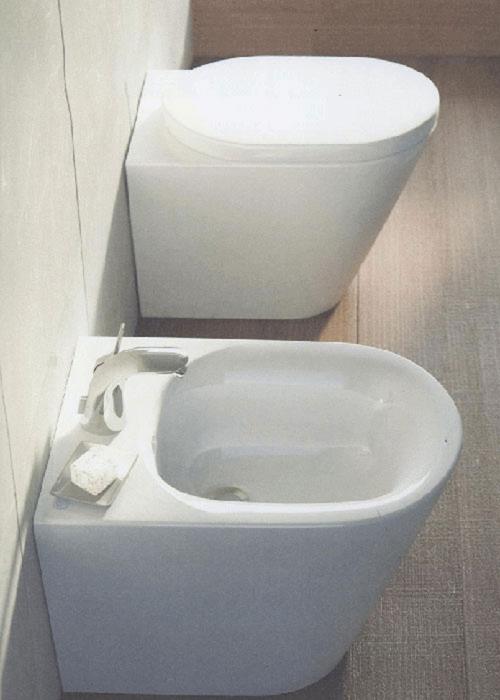 sanitari a terra filo muro tonic ideal standard vaso wc bidet sedile assicurazio ebay. Black Bedroom Furniture Sets. Home Design Ideas