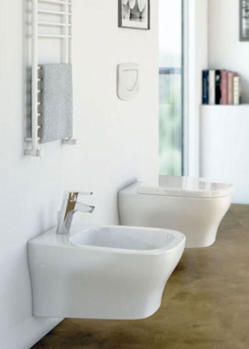 Sanitari sospesi filo muro active ideal standard vaso wc - Mobili bagno ideal standard ...