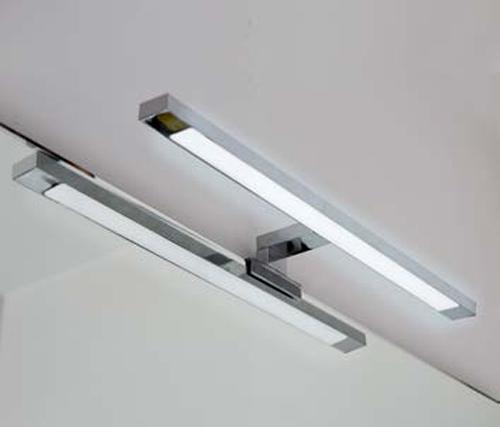 Applique da bagno lampada a led cromata per montaggio a bordo specchio l 50 cm ebay - Applique bagno led ...