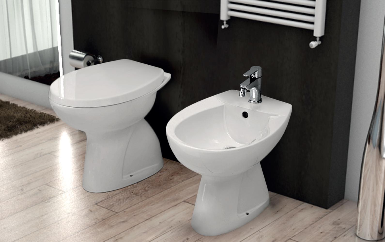 Sanitari a terra ideal standard vaso wc pavimento bidet for Bidet ideal standard