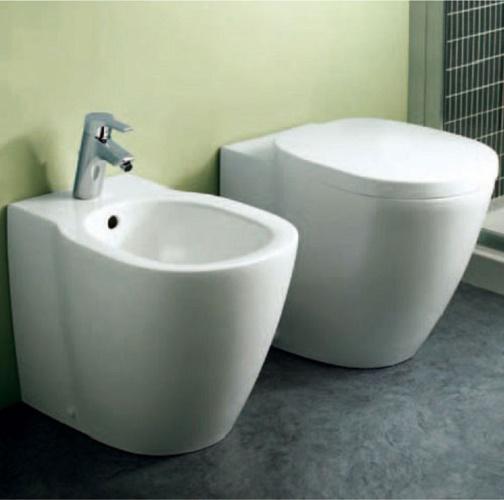 sanitari a terra filo muro connect ideal standard vaso wc bidet sedile assicuraz ebay. Black Bedroom Furniture Sets. Home Design Ideas