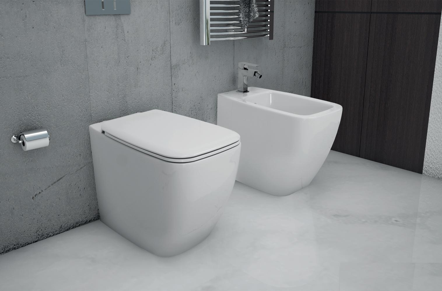 Sanitari Filo Muro Ideal Standard.Sanitari A Terra Filo Muro Serie 21 Ideal Standard Vaso Wc Bidet
