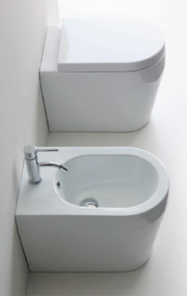 Sanitari Nero Ceramica Aliseo.Dettagli Su Sanitari A Terra Filo Muro Genesi Nero Ceramica Vaso Wc Bidet Sedile Assicuraz