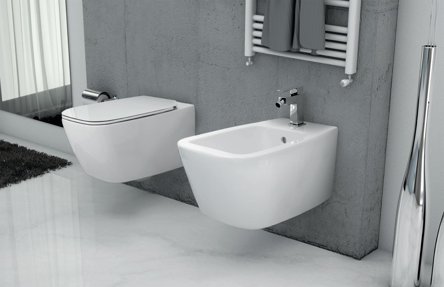 Sanitari sospesi filo muro serie 21 ideal standard vaso wc for Sanitari sospesi